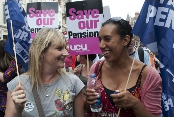 Save our pensions, photo Paul Mattsson