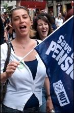 30 June coordinated strike action, photo Paul Mattsson