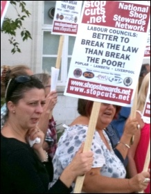 Anti-cuts protest in Walthamstow, photo by Senan
