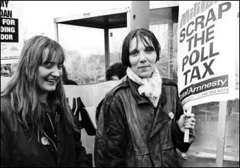 Militant: Scrap the Poll Tax, photo Dave Sinclair