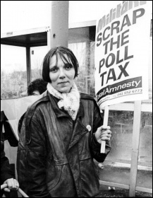 Militant: Scrap the Poll Tax, photo Dave Sinclair