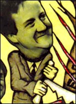 Cameron - Cuts with a smile. From cover of Socialism Today issue 137 April 2010, cartoon by Suz