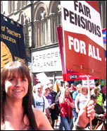 Newcastle: 30 June coordinated strike action by the PCS civil service union and NUT, ATL and UCU teaching unions , photo Elaine Brunskill