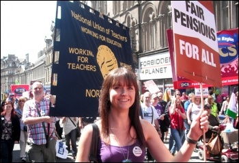 Newcastle: 30 June coordinated strike action by the PCS civil service union and NUT, ATL and UCU teaching unions , photo by Elaine Brunskill
