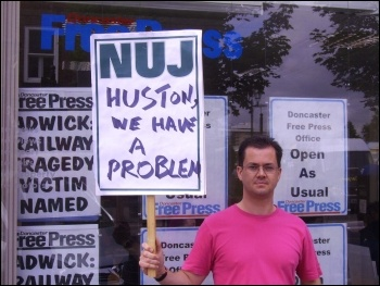South Yorkshire newspapers NUJ strike, July-Aug 2011, photo Alistair Tice