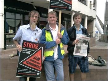 Picketing in Coventry, BBC NUJ strike 1.8.11