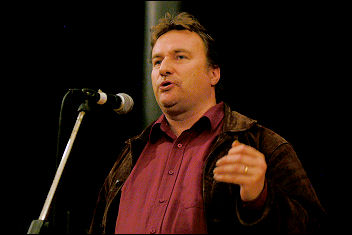 Rob Windsor, Socialist Party congress 2007, photo Paul Mattsson