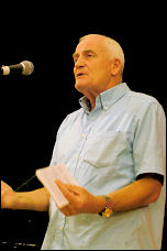 Tony Mulhearn, speaking at Socialist Party congress 2007, photo Paul Mattsson