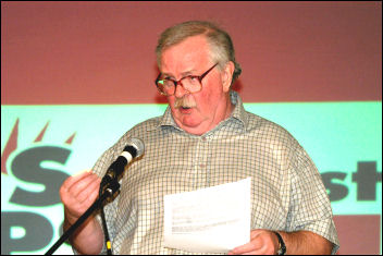 Bill Mullins at Socialist Party conference 2007, photo Paul Mattsson