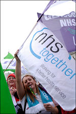 On the 3 November Save the NHS march, photo Paul Mattsson