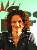 Hannah Sell at Socialist Party congress 2007, photo Paul Mattsson