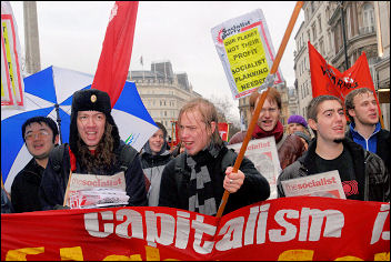Climate change demo December 2007, photo Paul Mattsson
