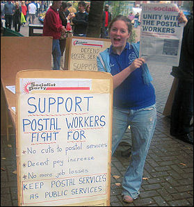 Socialist Party members campaigned for support for the CWU in the postal strike of 2007
