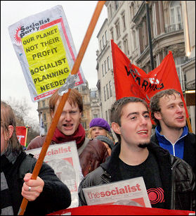 Socialist Party on the climate change demo December 2007, photo Paul Mattsson