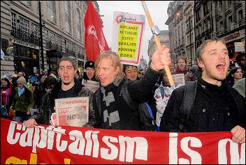 Climate change demo December 2007, photo Paul Mattsson
