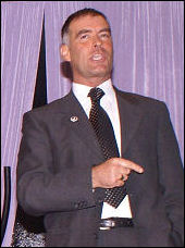Tommy Sheridan speaking at a Campaign for a New Workers Party meeting in Liverpool, photo Harry Smith