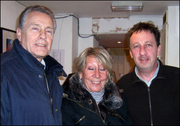 Socialist Party councillor Ian Page with tenant activists, photo Lewisham Socialist Party