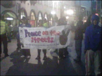 Leicester 'Peace on the Streets' demo, 9.8.11, photo Becci Heagney