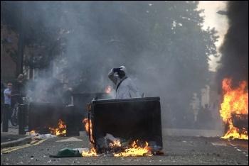 Fires in Hackney, August 2011, photo Paul Mattsson