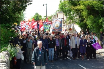 The 2011 Tolpuddle Martyrs festival saw a record 10,000 people celebrate the victory of the early trade union movement , photo Rob Emery