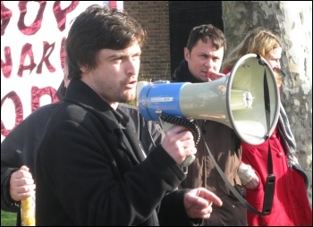 Paul Callanan, Youth Fight for Jobs, photo by Lorraine Dardis