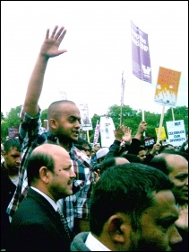 5000 + strong anti-EDL demonstration in Tower Hamlets in June 2010, photo by P Mason