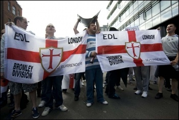 EDL supporters rallying in London, 3.9.11