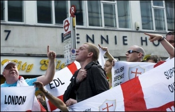 EDL marching in London, 3.9.11