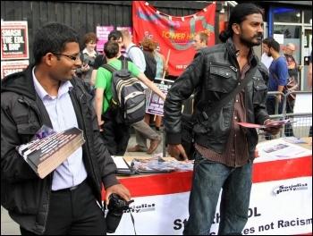 On the anti-EDL demo,  3.9.11, photo TU Senan