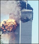 9/11: Attack on the New York Twin Towers of the Wold Trade Centre, photo BBC
