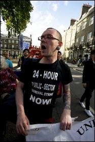 National Shop Stewards Network demonstration to lobby the TUC 11 September 2011, photo Paul Mattsson