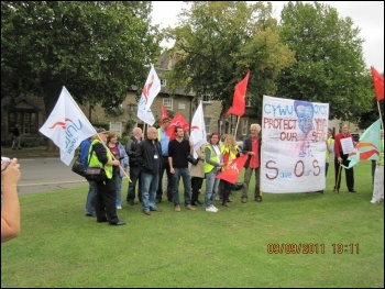 Youth workers' strike and lobby in Witney, Oxfordshire, John Gilman