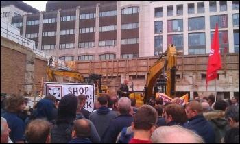 Electricians invade the Farringdon construction site, 21.9.11, Neil Cafferky
