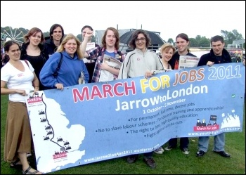 Support for Jarrow March at the Durham Miners' Gala , photo by Northern Region SP