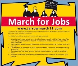 March for jobs - Jarrow march 2011