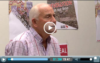 Tony Mulhearn, Liverpool 47, addressing the London Socialist Party meeting