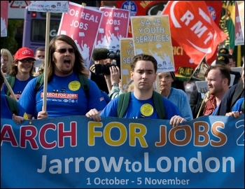 The Jarrow March 2011; building support everywhere it goes, photo Paul Mattsson