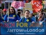 The Jarrow March 2011 is building support everywhere it goes, photo Paul Mattsson