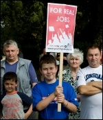 We are the 99% - Fighting for our future - Youth Fight for Jobs on the Jarrow March, photo Paul Mattsson