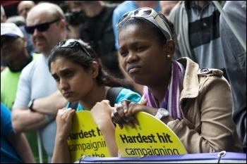 May 2011 Hardest Hit Demonstration, photo Paul Mattsson