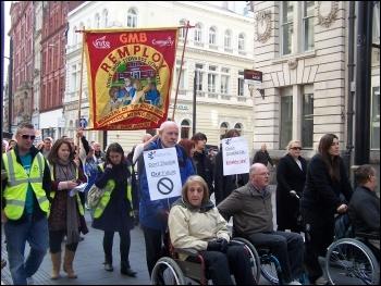 Hardest Hit demo, Cardiff, 22.10.11, Cardiff Socialist Party
