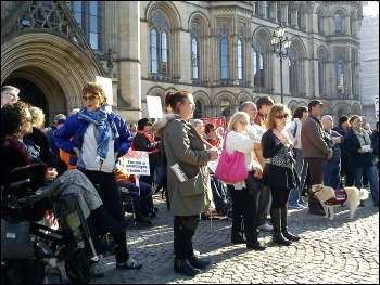 400 took part in the Hardest Hit demonstration in Manchester. 22.10.11, Hugh Caffrey