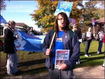 Protest at Northampton university against cuts, photo Sarah Sachs Eldridge
