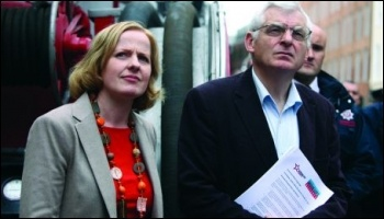 Ruth Coppinger, Socialist Party Ireland, with the Irish Socialist Party's Joe Higgins TD, photo Socialist Party Ireland