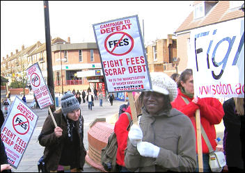 Students from Portsmouth, Southampton, Winchester and Oxford lobby John Denham MP, photo Ben Robinson
