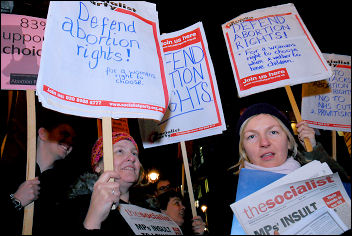Picket of Tory MP Ann Widdecombe