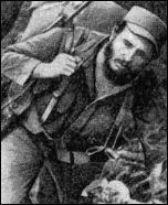 Fidel Castro in his days as a guerrila
