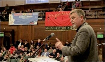 Dave Nellist, Socialist Party councillor. addresses Socialism 2011, photo Senan