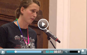 Emily McArthur, speaking at Socialism 2011 from Occupy Boston and Socialist Alternative, Committee for a Workers' International (CWI) supporters in the US