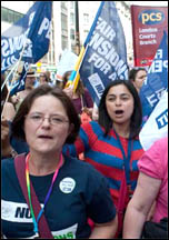 30 June strike of PCS, NUT, UCU and other unions, photo Paul Mattsson
